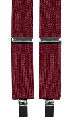 Extra långa hängslen i färg vinrött från Neckwear c577c3b8df