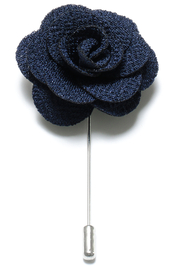 Lapel Flower Pin - Marinblå
