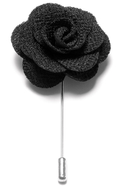 Lapel Flower Pin - Svart