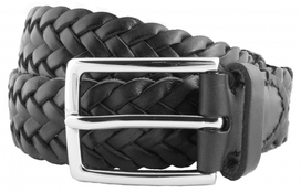 Leather Belt Men Black