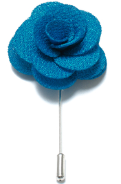 Lapel Flower Pin - Blå
