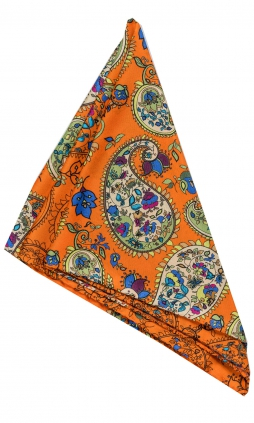 Sidennäsduk | Paisley Orange Flowers | Eton